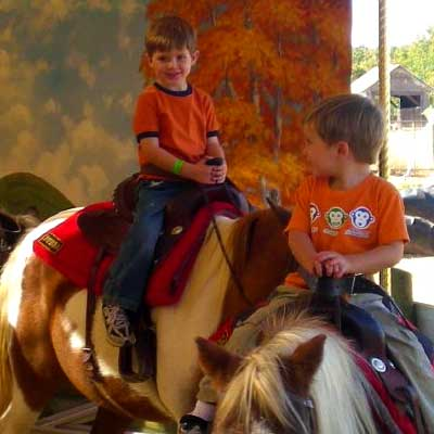 Pony Rides at Bishop's Pumpkin Farm in Wheatland, California