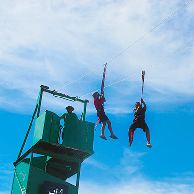200 Foot Zip Line at Bishop's Pumpkin Farm in Wheatland, California